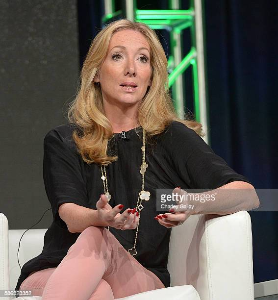 Executive producer 'The Musketeers' Jessica Pope speaks onstage at the 'International Intrigue' panel discussion during the Hulu portion of the 2016...