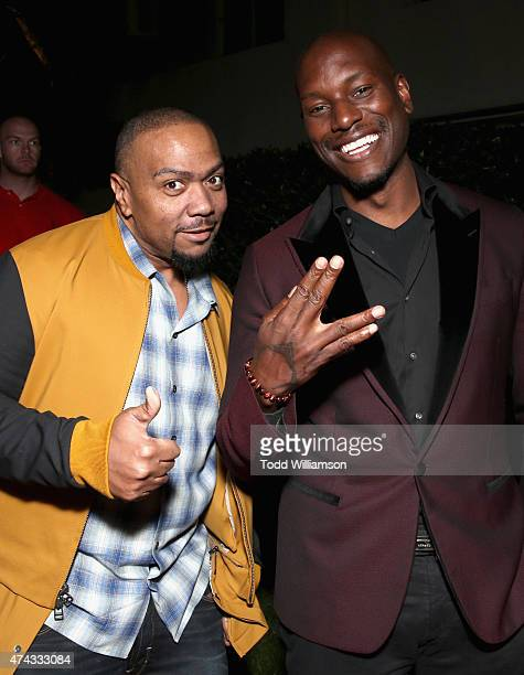 Executive producer Timbaland and actor Tyrese Gibson attend the FOX Los Angeles Screenings Party 2015 on the Fox Studio Lot on May 21 2015 in Los...