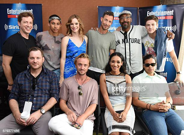Executive producer Todd Helbing actors Keiynan Lonsdale Danielle Panabaker Tom Cavanagh Jesse L Martin and Grant Gustin executive producer Aaron...