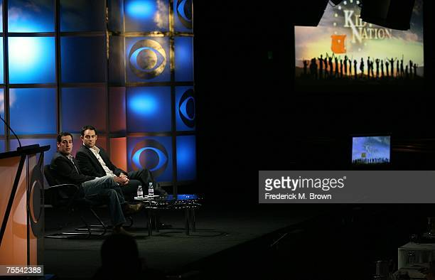 Executive producer Tom Forman and host Jonathan Karsh speak for the television show Kid Nation during the CBS portion of the Television Critics...
