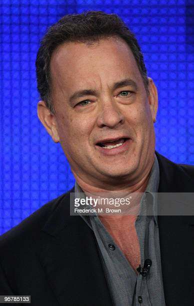 Executive producer Tom Hanks of The Pacific speaks during the HBO portion of the 2010 Television Critics Association Press Tour at the Langham Hotel...