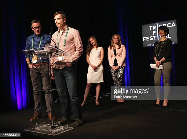 Executive producer Tom Harrington and Director Brian Bolster accept the award for Best Documentary Short for One Year Lease onstage at the TFF Awards...