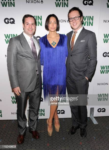 Executive producer Tom Heller producer Lisa Maria Falcone and Gareth Smith of Everst Entertainment attend a screening of Win Win at the SVA Theater...
