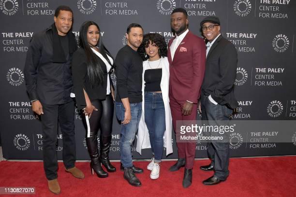 Executive producer Tony Cornelius actors Kelly Price Jason Dirden Katlyn Nichol and Sinqua Walls and cocreator Devon Greggory attend the American...