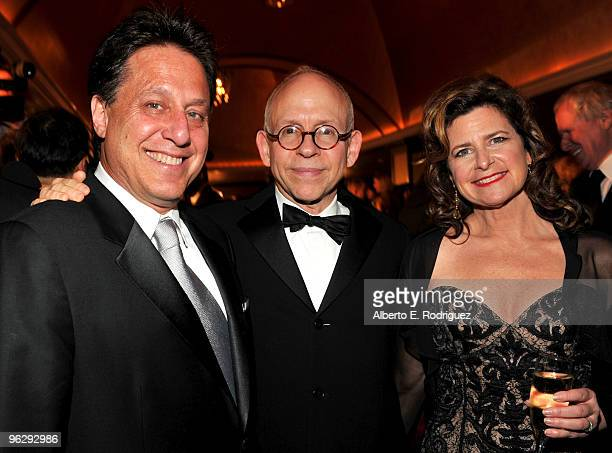 Executive Producer Tony Mark Director Bob Balaban and Susan Fiore attend the 62nd Annual Directors Guild Of America Awards cocktail reception held at...