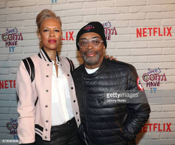 Executive Producer Tonya Lewis Lee and Spike Lee attend Netflix Original Series 'She''s Gotta Have It' Premiere and After Party at BAM Rose Center on...