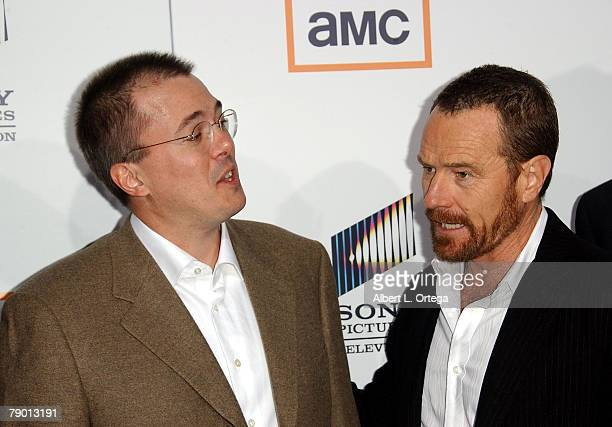 Executive Producer Vince Gilligan and Actor Bryan Cranston arrive at the Premiere Screening of AMC's new Sony Pictures' Television drama Breaking Bad...