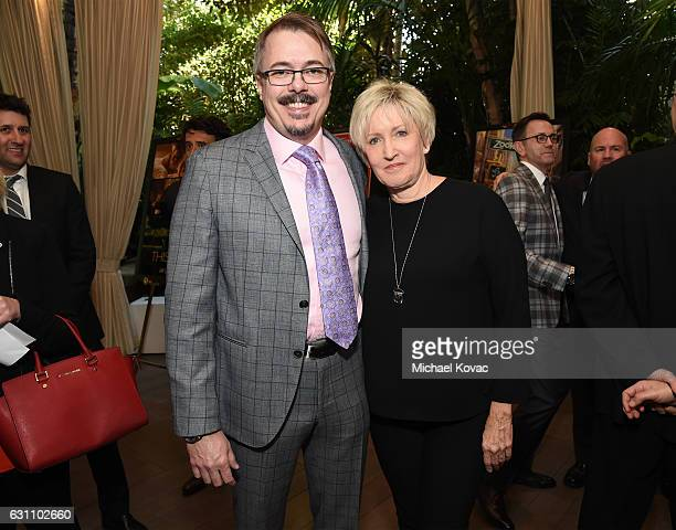 Executive producer Vince Gilligan and Holly Rice attend the 17th annual AFI Awards at Four Seasons Los Angeles at Beverly Hills on January 6 2017 in...