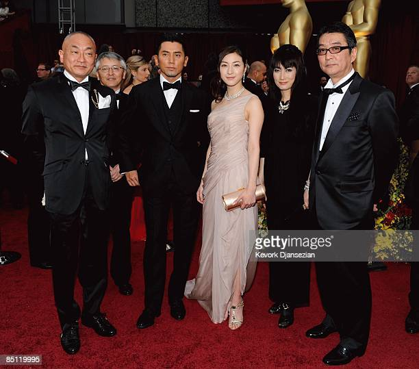Executive producer Yasuhiro Mase producer Ichiro Nobukuni actor Masahiro Motoki actresses Ryoko Hirosue Kimiko Yo and Director Yojiro Takita from the...