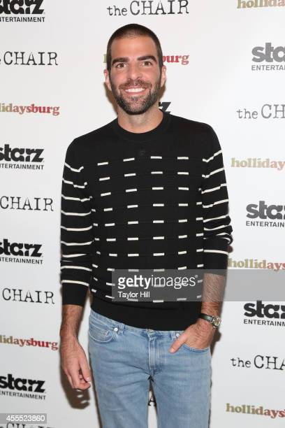 Executive producer Zachary Quinto attends the Hollidaysburg premiere at Tribeca Grand Hotel on September 15 2014 in New York City