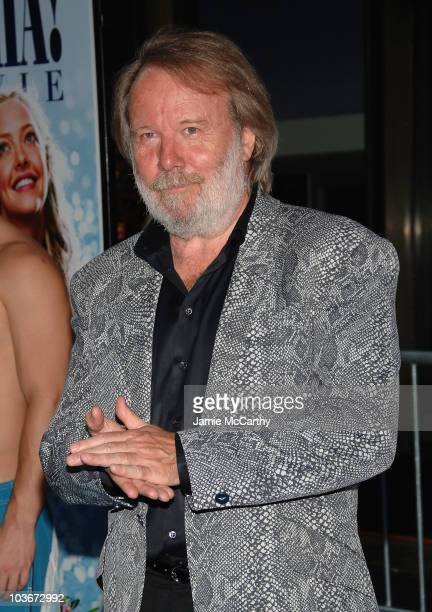 Executive Producer/ABBA founding member Benny Andersson attends the premiere of Mamma Mia at the Ziegfeld Theatre on July 16 2008 in New York City