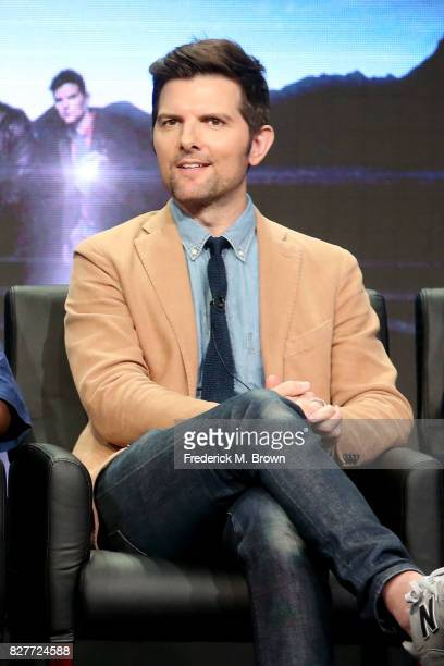 Executive producer/actor Adam Scott of 'Ghosted' speaks onstage during the FOX portion of the 2017 Summer Television Critics Association Press Tour...