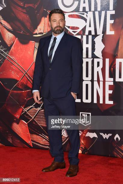 Executive producer/actor Ben Affleck arrives at the premiere of Warner Bros Pictures' 'Justice League' at the Dolby Theatre on November 13 2017 in...