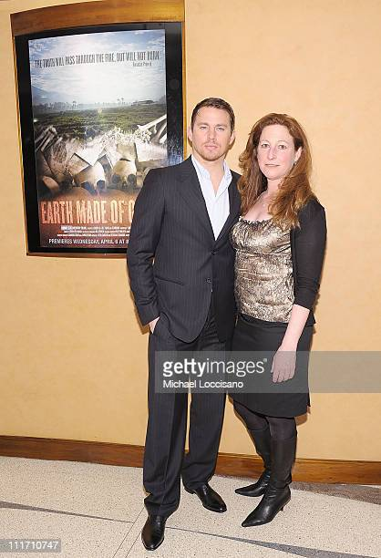 Executive producer/actor Channing Tatum and director Deborah Scranton attend the HBO Documentary Screening of Earth Made Of Glass at HBO Theater on...