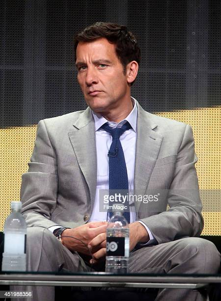 Executive Producer/Actor Clive Owen of HBO's The Knick speaks onstage during the HBO TCA Summer Session 2014 at The Beverly Hilton Hotel on July 10...