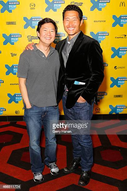 Executive producer/actor Ken Jeong and actor Daniel Dae Kim attend the premiere of Ktown Cowboys during the 2015 SXSW Music Film Interactive Festival...