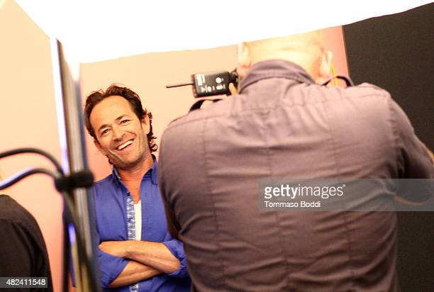 Executive producer/actor Luke Perry of UP Entertainment's 'Welcome Home' attends the Getty Images Portrait Studio powered by Samsung Galaxy at 2015...