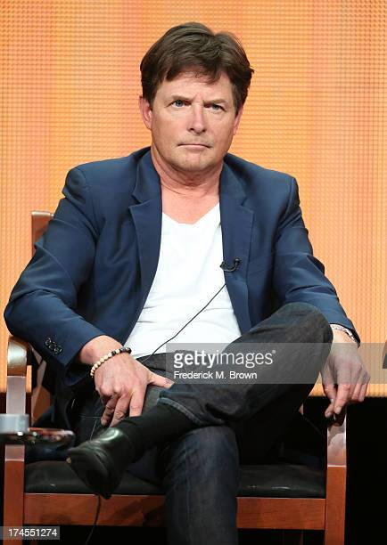 Executive Producer/Actor Michael J Fox speaks onstage during 'The Michael J Fox Show' panel discussion at the NBC portion of the 2013 Summer...