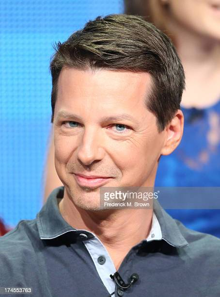 Executive Producer/Actor Sean Hayes speaks onstage during the 'Sean Saves the World' panel discussion at the NBC portion of the 2013 Summer...