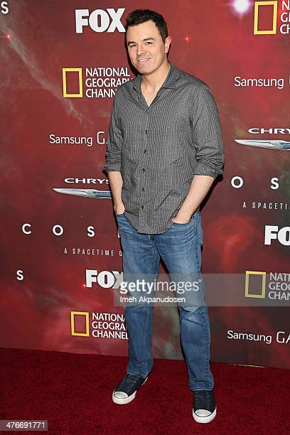 Executive producer/actor Seth MacFarlane attends the premiere of Fox's 'Cosmos A SpaceTime Odyssey' at The Greek Theatre on March 4 2014 in Los...