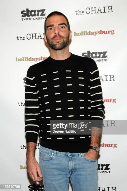 Executive producer/actor Zachary Quinto attends Hollidaysburg New York Premiere at Tribeca Grand Hotel on September 15 2014 in New York City