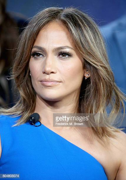 Executive producer/actress Jennifer Lopez speaks onstage during the 'Shades of Blue' panel discussion at the NBCUniversal portion of the 2015 Winter...