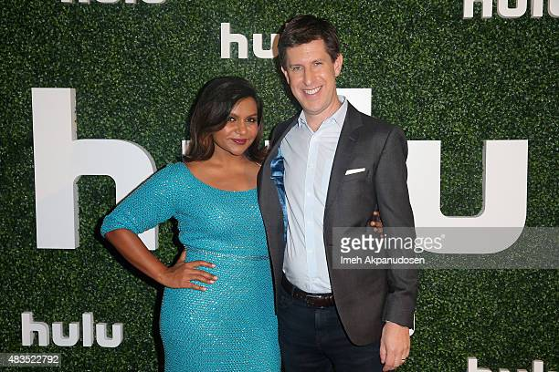 Executive producer/actress Mindy Kaling and Craig Erwich SVP and Head of Content at Hulu attend the Hulu 2015 Summer TCA Presentation at The Beverly...