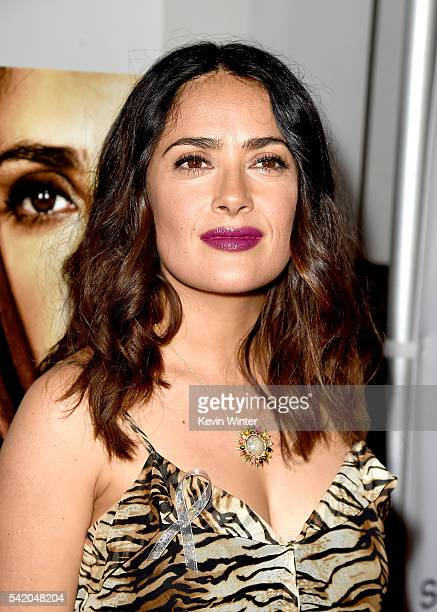 Executive producer/actress Salma Hayek arrives at the premiere of Momentum Pictures' September Of Shiraz at the Museum of Tolerance on June 21 2016...