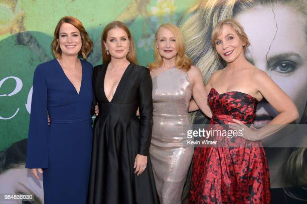 Executive Producer/Author Gillian Flynn Amy Adams Patricia Clarkson and Executive Producer/Creator Marti Noxon attend the premiere of HBO's 'Sharp...