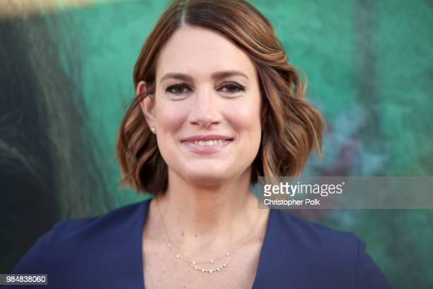Executive Producer/Author Gillian Flynn attends the premiere of HBO's 'Sharp Objects' at The Cinerama Dome on June 26 2018 in Los Angeles California