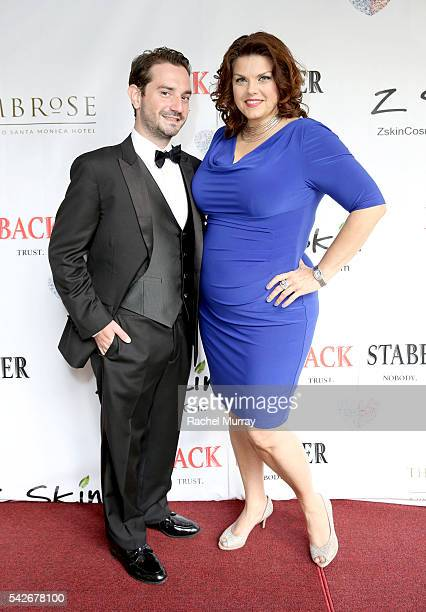 Executive Producer/CoDirector Jordan Fraser and actress Angela Tesch attend the red carpet premiere for the new Amazon series 'Back Stabber' at the...