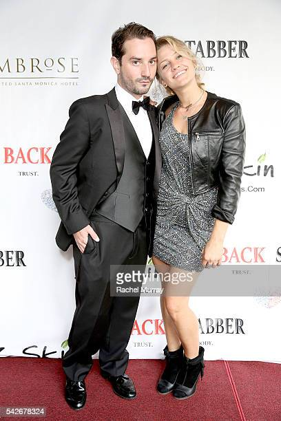 Executive Producer/CoDirector Jordan Fraser and actress Ashly Williston attend the red carpet premiere for the new Amazon series 'Back Stabber' at...