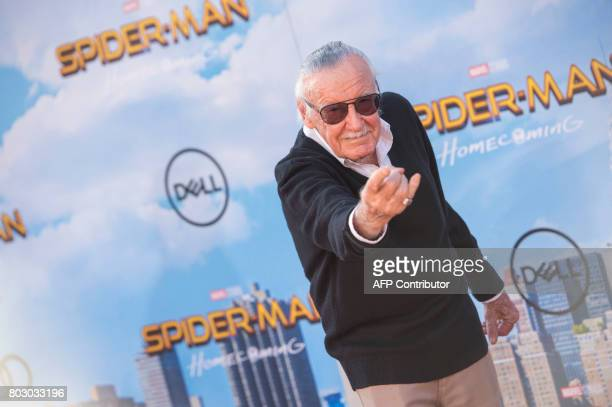 Executive producer/comic book writer Stan Lee attends the world premiere of Spiderman Homecoming at the TCL Chinese Theater on June 28 2017 in...