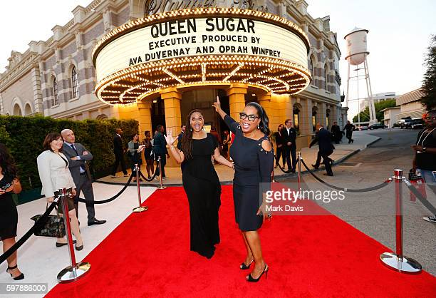 """Executive producer/creator Ava DuVernay and executive producer Oprah Winfrey attend OWN Oprah Winfrey Network's """"Queen Sugar"""" premiere at the Warner..."""