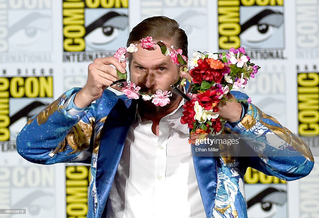 Executive producer/creator Bryan Fuller carries a flower crown during the 'Hannibal' Savor the Hunt panel during Comic-Con International 2015 at the San Diego Convention Center on July 11, 2015 in San Diego, California.