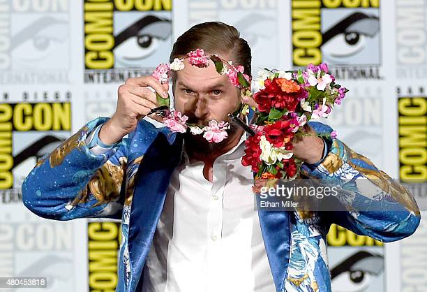 Executive producer/creator Bryan Fuller carries a flower crown during the 'Hannibal' Savor the Hunt panel during ComicCon International 2015 at the...