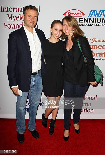 Executive Producer/Creator Everybody Loves Raymond Phil Rosenthal actress Lily Rosenthal and actress Monica Haran attend the International Myeloma...