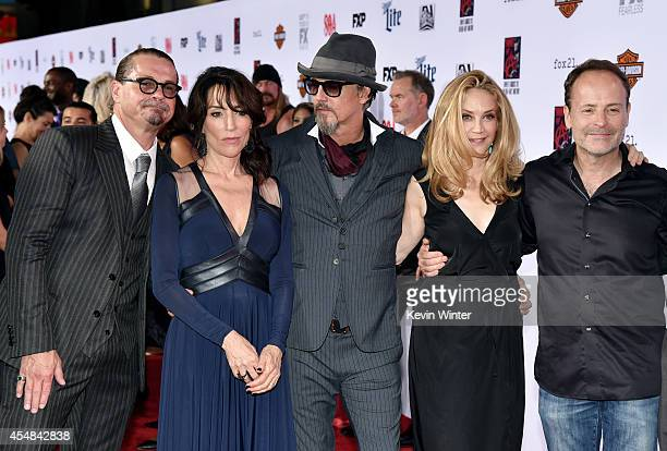 Executive producer/creator Kurt Sutter actress Katey Sagal actor Tommy Flanagan actress Ally Walker and John Landgraf CEO FX Networks arrive at the...