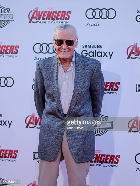 Executive producer/Creator Stan Lee attends the premiere of Marvel's 'Avengers Age Of Ultron' at Dolby Theatre on April 13 2015 in Hollywood...