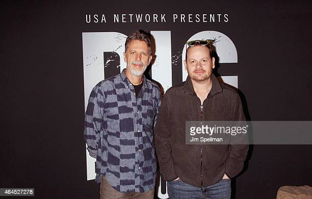 Executive producer/creators Tim Kring and Gideon Raff attend the Dig Escape The Room event at 22 Little West 12th on February 26 2015 in New York City