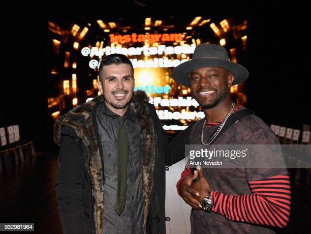 Executive producer/designer Erik Rosete and Taye Diggs attend Los Angeles Fashion Week Powered by Art Hearts Fashion LAFW FW/18 10th Season...