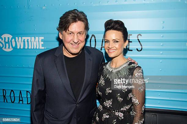 Executive producer/director Cameron Crowe and actress Carla Gugino attend the premiere for Showtime's Roadies at The Theatre at Ace Hotel on June 6...