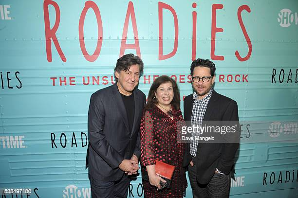 Executive producer/director Cameron Crowe executive producer Winnie Holzman and executive producer JJ Abramsattend the premiere for Showtime's...