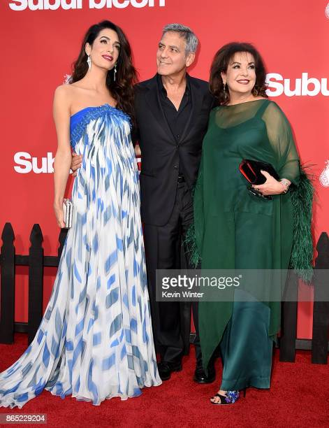 Executive producer/director George Clooney his wife Amal Clooney and her mother Baria Alamuddin arrive at the premiere of Paramount Pictures'...