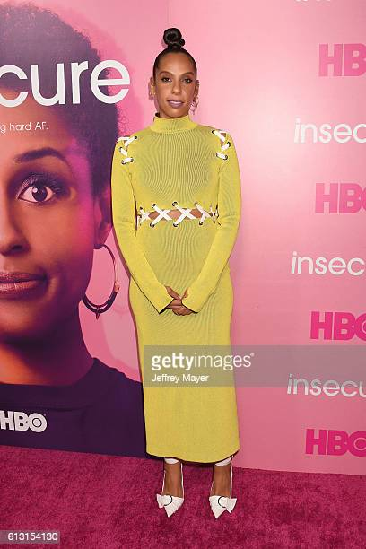 Executive producer/Director Melina Matsoukas attends the premiere of 'Insecure' at Nate Holden Performing Arts Center on October 6 2016 in Los...