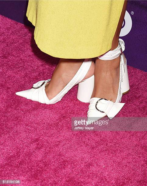 Executive producer/Director Melina Matsoukas shoe detail at the premiere of 'Insecure' at Nate Holden Performing Arts Center on October 6 2016 in Los...