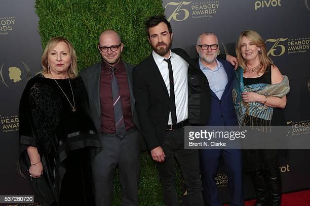 Executive producer/director Mimi Leder executive producer Damon Lindelof actor Justin Theroux executive producer Tom Perrotta and actress Ann Dowd...