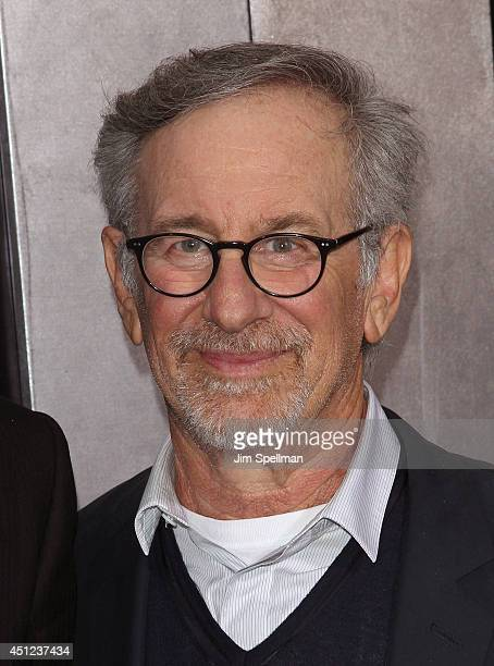 """Executive producer/director Steven Spielberg attends the """"Transformers: Age Of Extinction"""" New York Premiere at the Ziegfeld Theater on June 25, 2014..."""