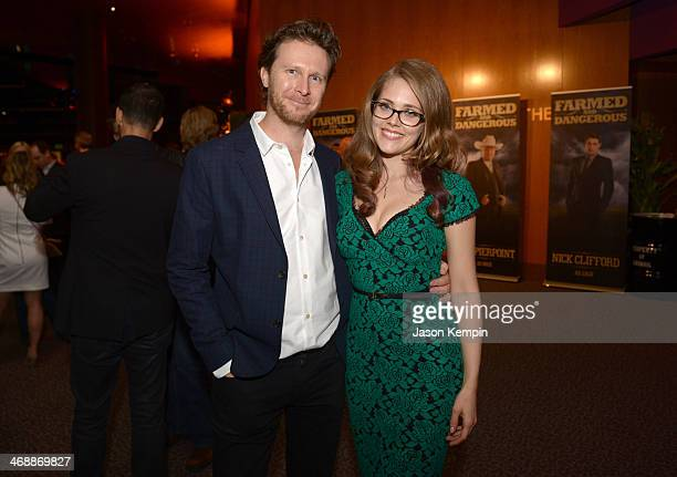 Executive producer/director Tim Piper and actress Karynn Moore celebrate the world premiere of Farmed and Dangerous a Chipotle/Piro production at DGA...