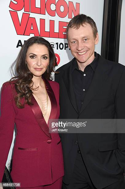 Executive Producer/director/writer Alec Berg and actress Michele Maika attend the HBO Silicon Valley season 2 premiere and after party at the El...